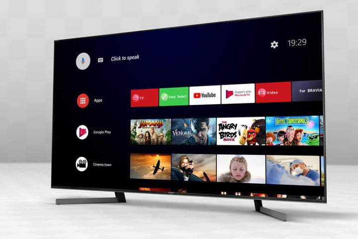 Sony Android TV home screen.