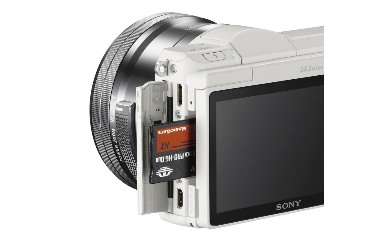 sony alpha 5100 ilce wselp1650 cardslot white