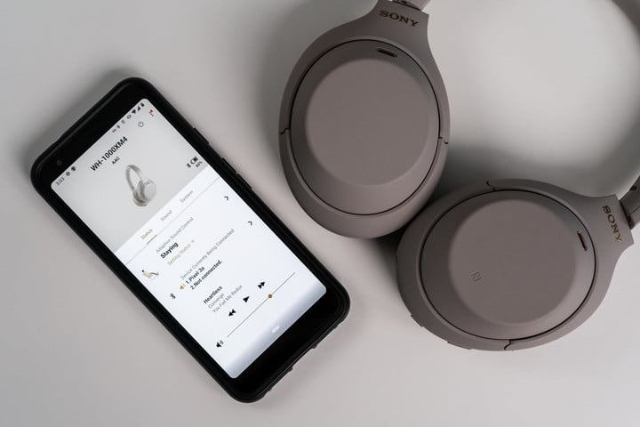 Sony WH-1000XM4 and their companion app.