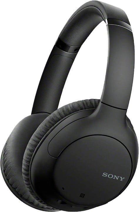 Sony wireless noise cancelling over the ear headphones in black
