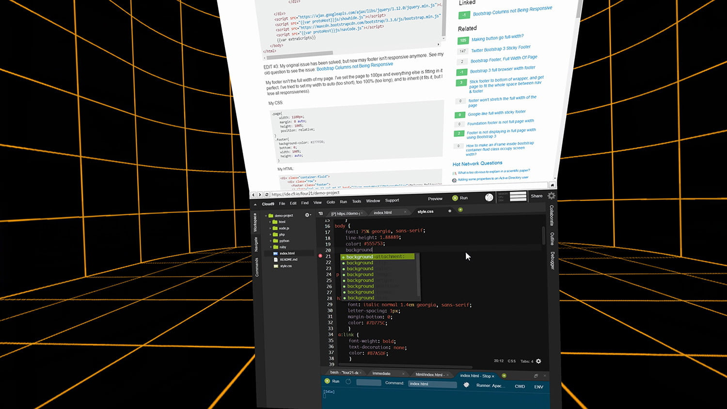 space virtual reality office  4 coding