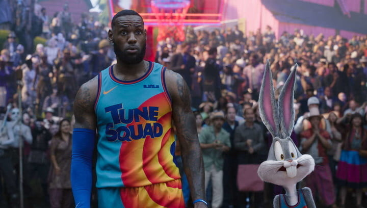 LeBron James and Bugs Bunny in Space Jam: A New Legacy.