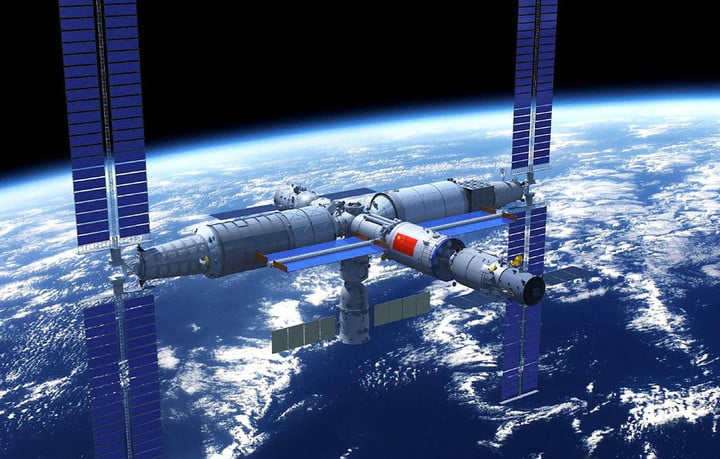 - space station china 720x720 - China Succeeds in First Cargo Mission to New Space Station
