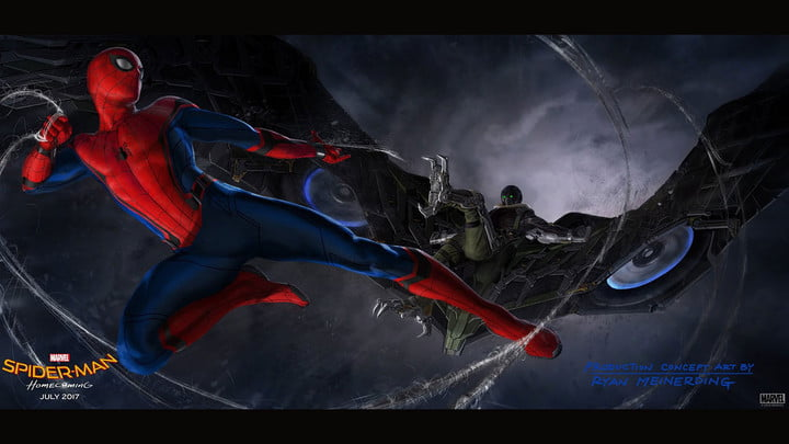 spider man homecoming trailer and concept art feat