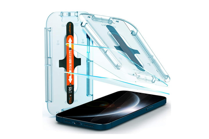 spigen tempered glass screen protector for iphone 12 pro max