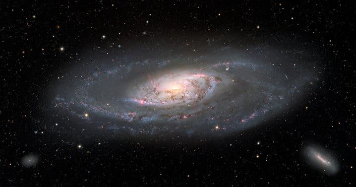 This image of the spiral galaxy Messier 106, or NGC 4258, was taken with the Nicholas U. Mayall 4-meter Telescope at Kitt Peak National Observatory, a Program of NSF's NOIRLab. A popular target for amateur astronomers, Messier 106 can also be spotted with a small telescope in the constellation Canes Venatici.