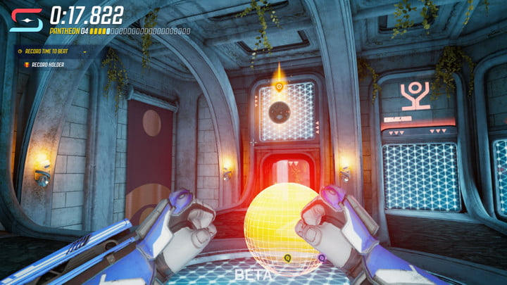 Player completing race in Splitgate.