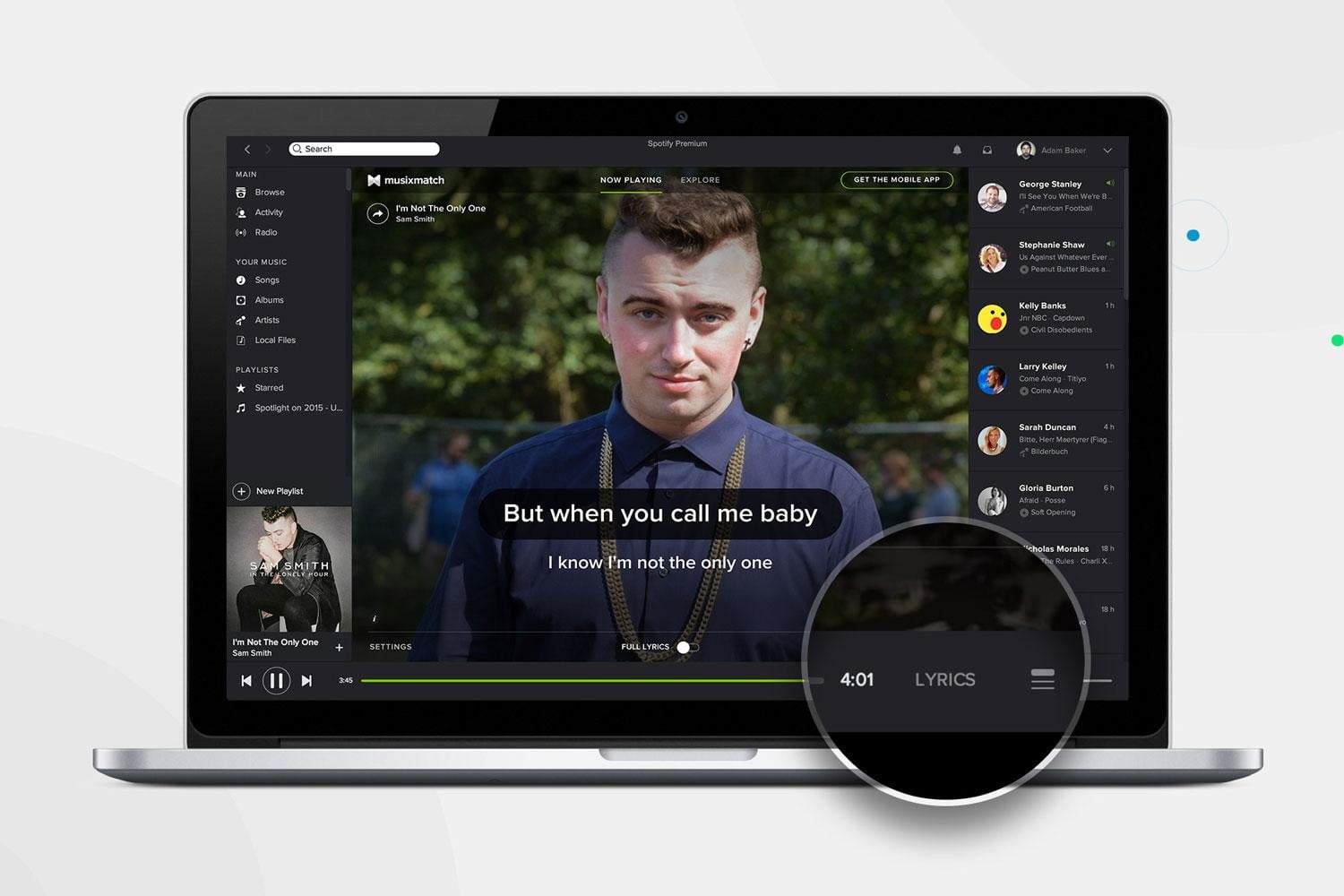 spotify adds lyrics to desktop app so you can annoy the hell out of everyone nearby samsmith edit press image