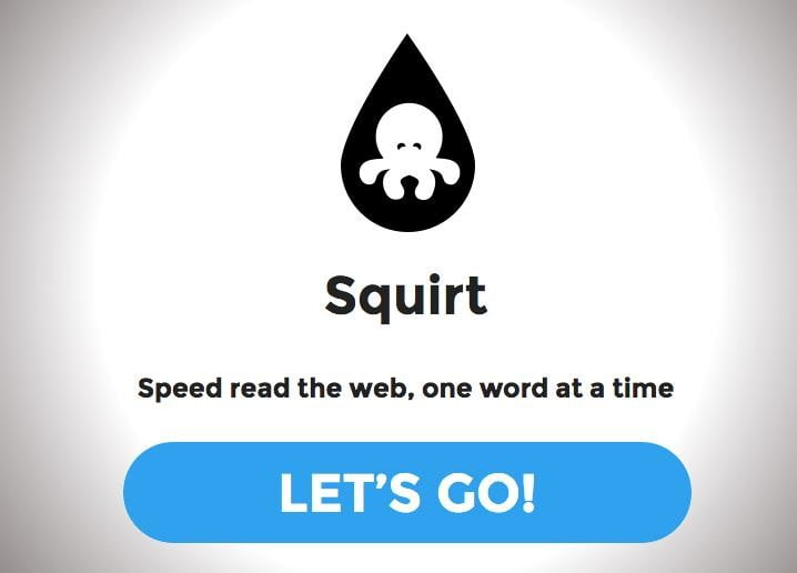 squirt bookmarklet lets read webpage 950 words per minute header