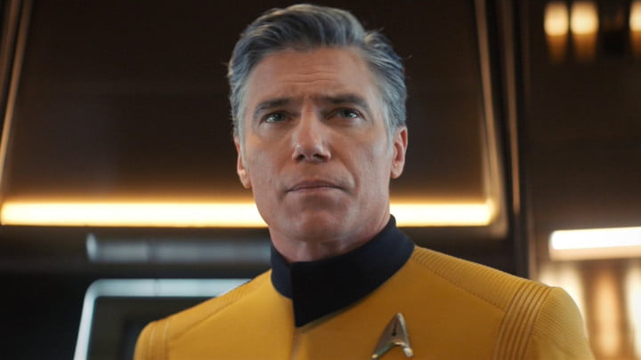Anson Mount as Captain Christopher Pike.