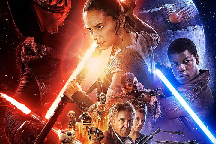 star wars the force awakens end credits shot