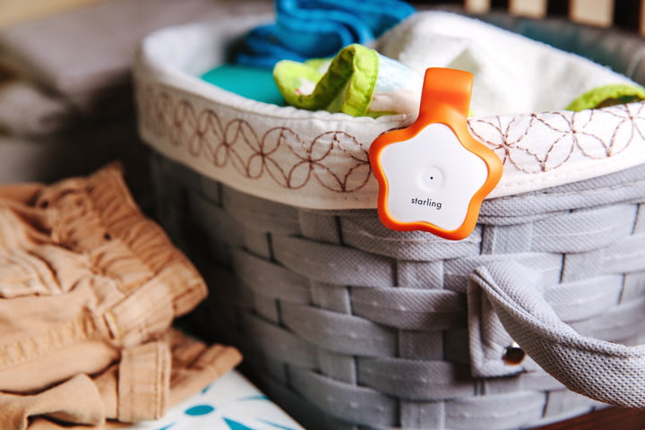starling wearable for babies on basket