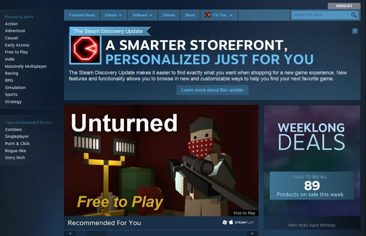 valve limits new steam accounts discovery update