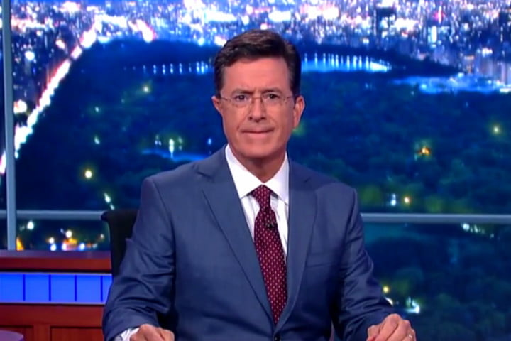 stephen colbert late show guests superbowl will ferrell tina fey still