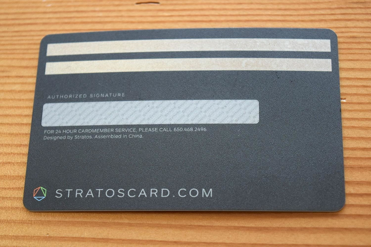 stratos smart credit card review back full