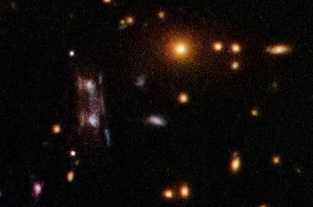 Mystery of an odd mirrored double galaxy solved utilizing Hubble knowledge thumbnail