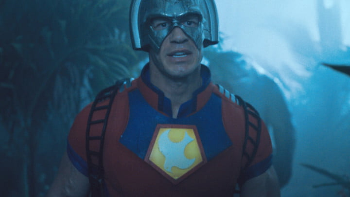 John Cena as Peacemaker in The Suicide Squad.
