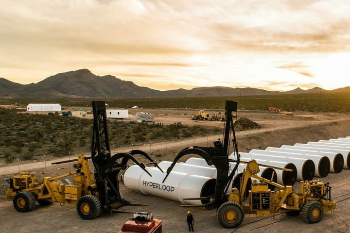 hyperloop makes progress on manufacturing and test site sunset in paradise1