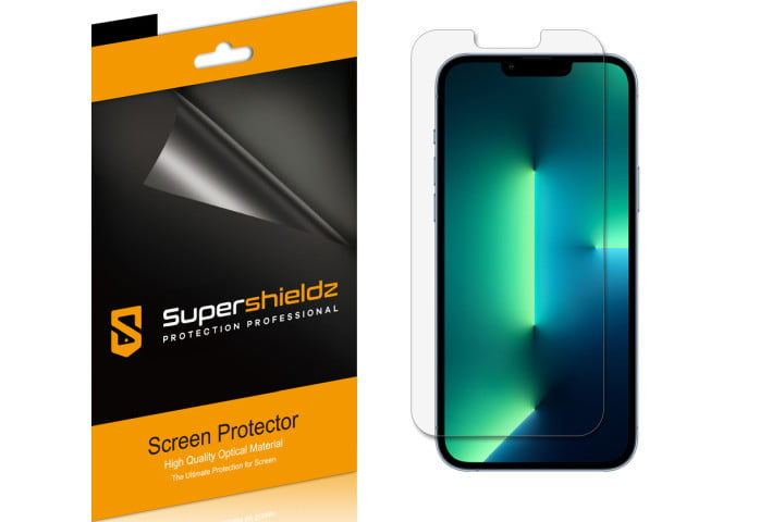 Supershieldz 6-pack of film screen protectors for the iPhone 13 Pro Max.