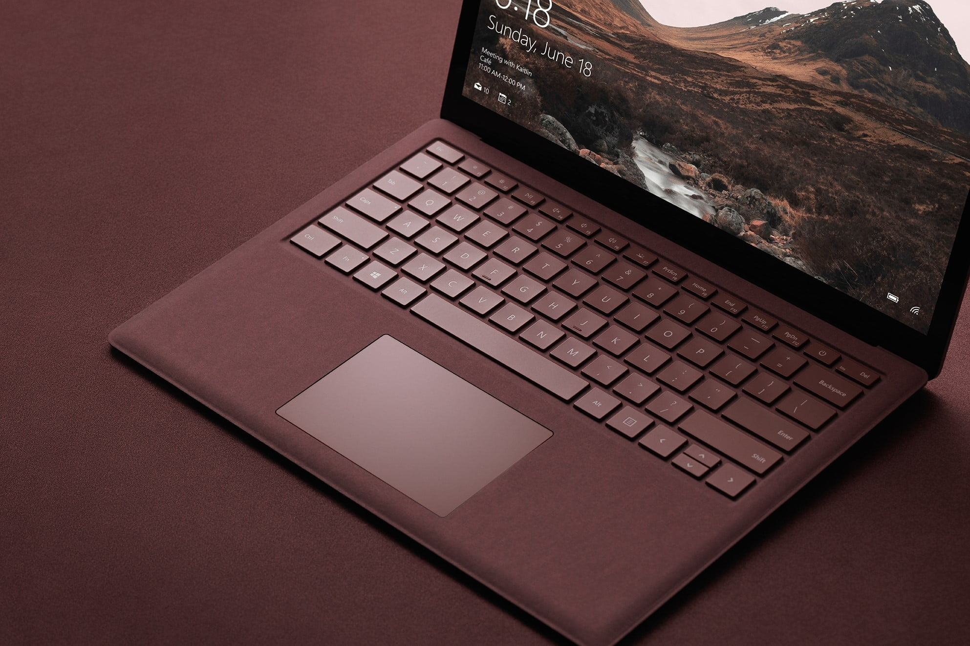 Stock photo of Surface laptop
