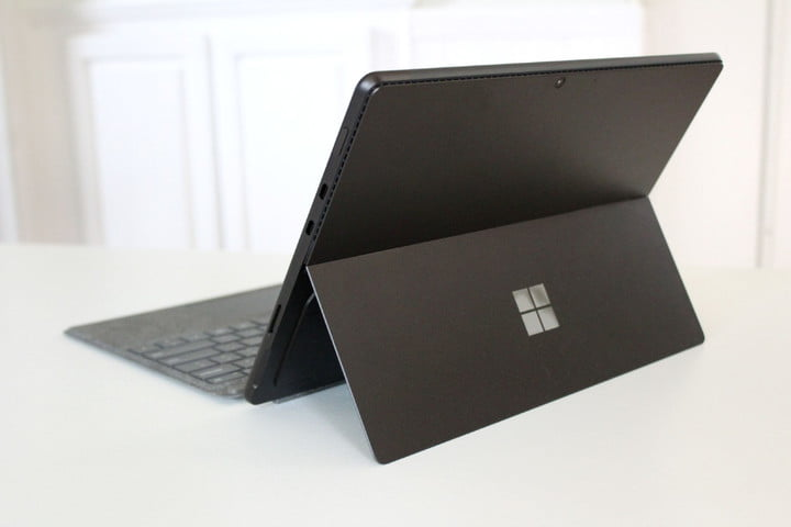 The back of the Surface Pro 8.