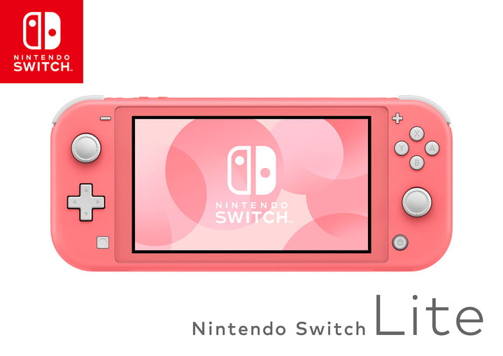 Nintendo Switch Lite coral system