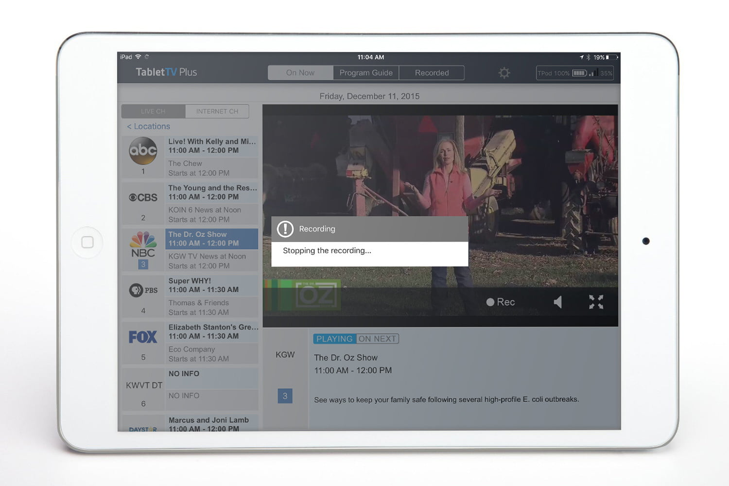 tablet tv first look hands on video review tablettv ios app 3