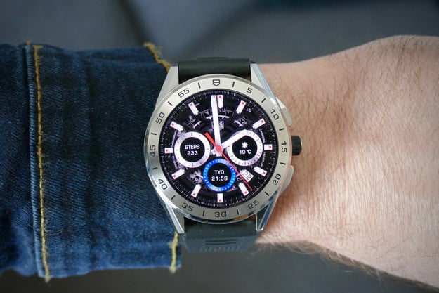 tag heuer connected 2020 smartwatch review 02 face