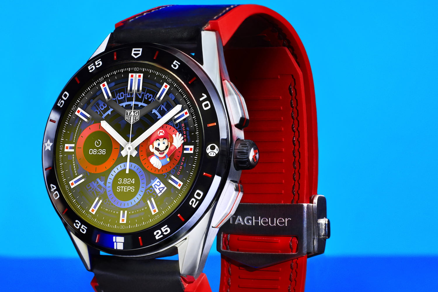 Tag Heuer's new limited edition smartwatch says it's Mario time, all the time