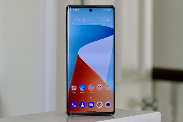 TCL 20 Pro 5G's screen.