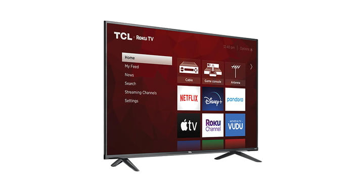 TCL 55-inch 4 Series 4K TV on a white background.