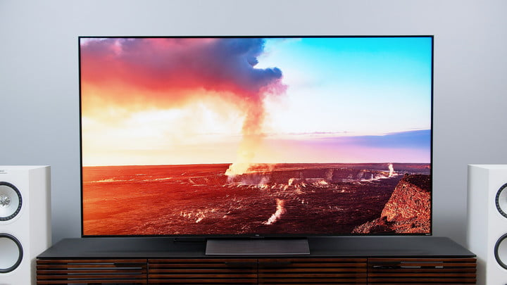 Beautiful sky and landscape on the TCL 6-Series model R648 Roku TV.