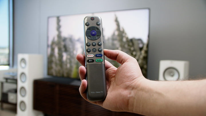 All new designed roku remote for the TCL 6-Series model R648 Roku TV.