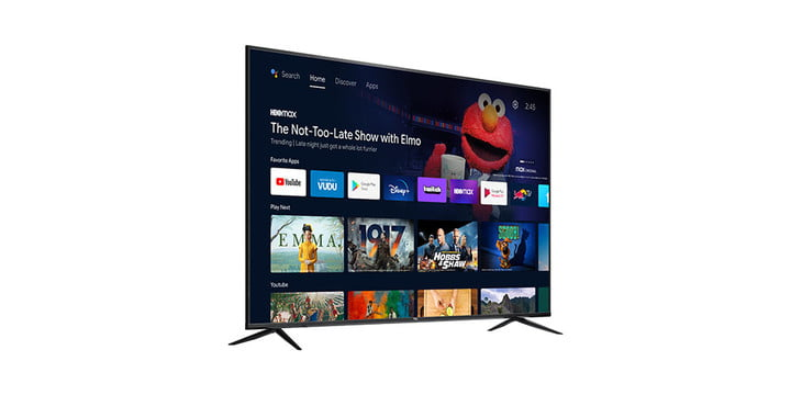 TCL 70-inch 4K TV on a white background.