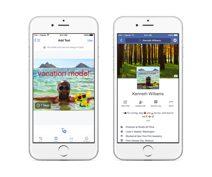 facebook video profile pics coming soon temporary pic vacation