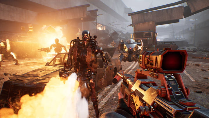 Gameplay in Terminator Resistance PC game..