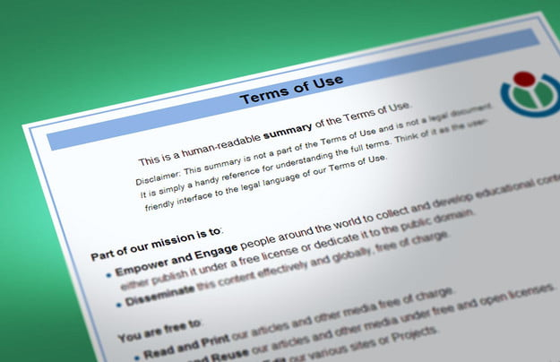 terms and conditions wikipedia
