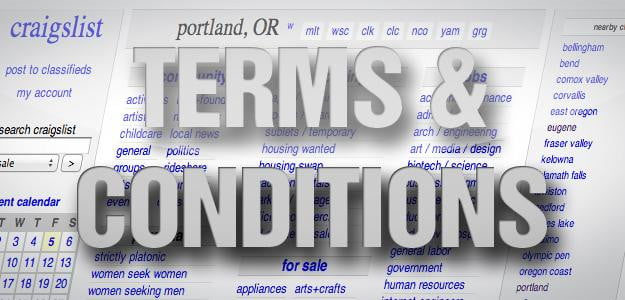 terms & conditions craigslist