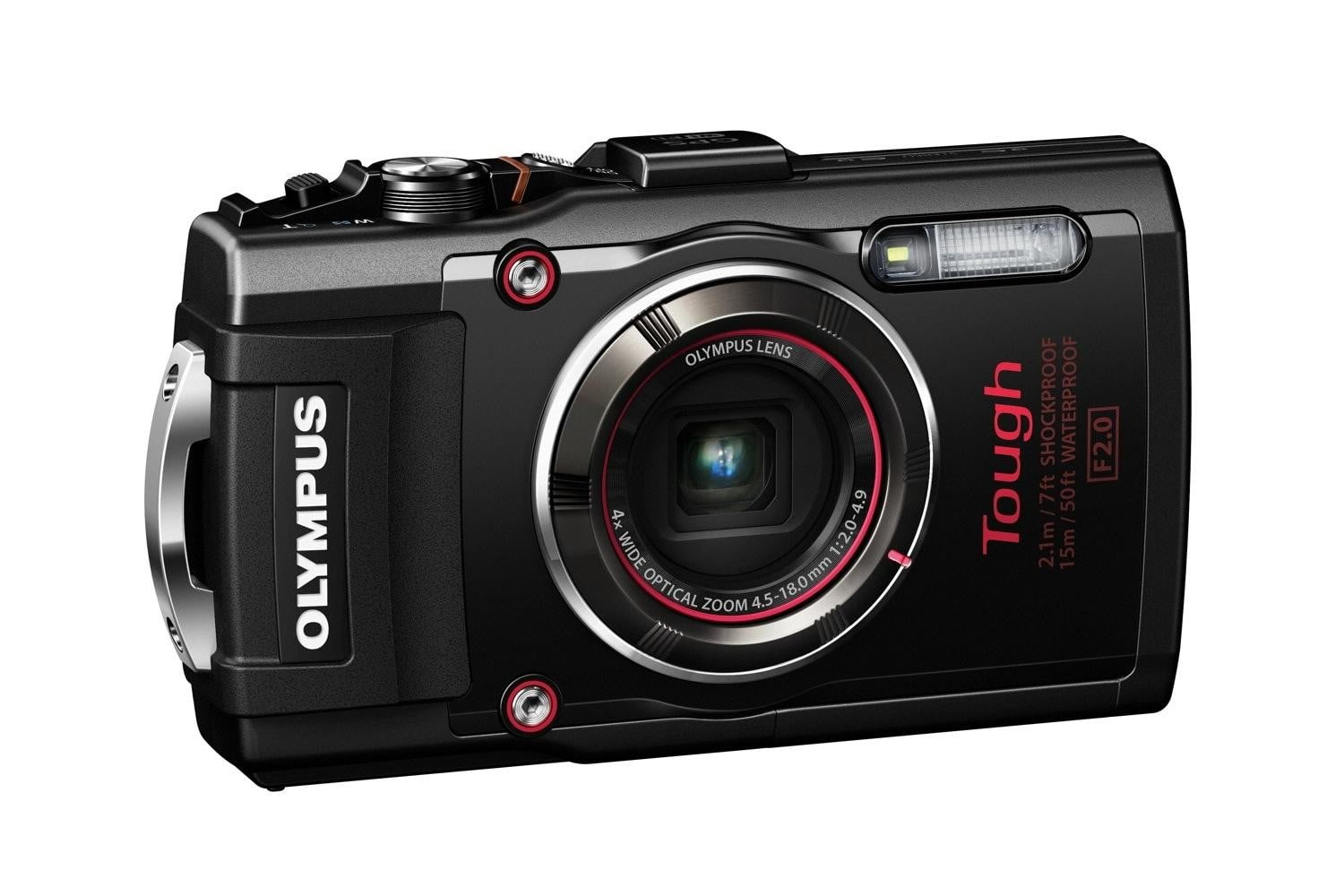 olympus tg 4 is first rugged compact to shoot uncompressed raw photos blk left side