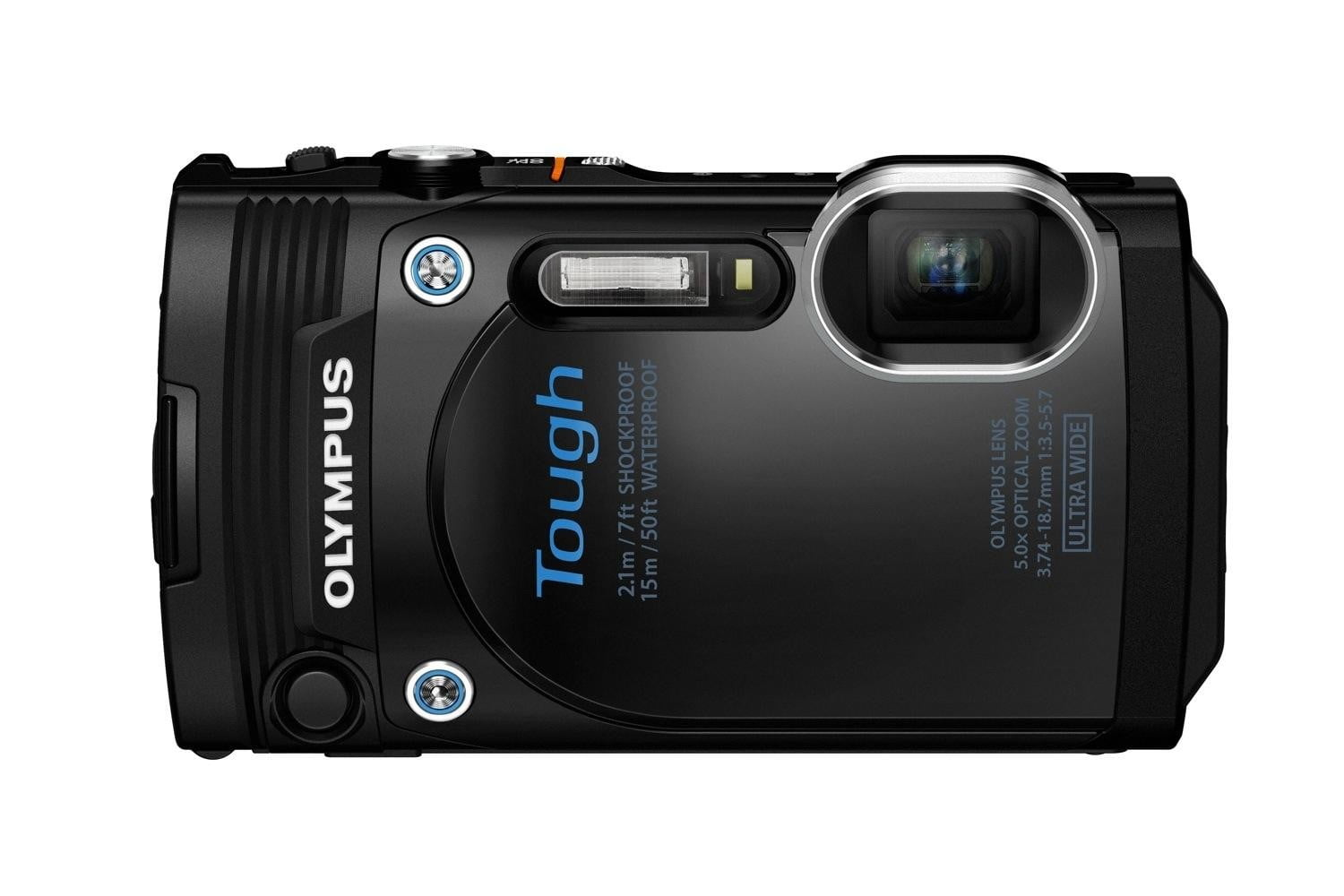 olympus new rugged tg 860 swims deeper now wi fi blk front