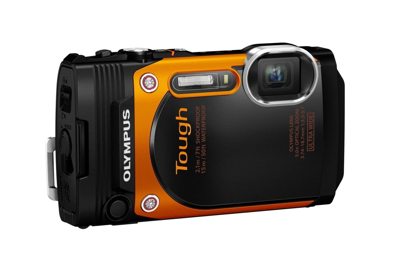 olympus new rugged tg 860 swims deeper now wi fi org left side