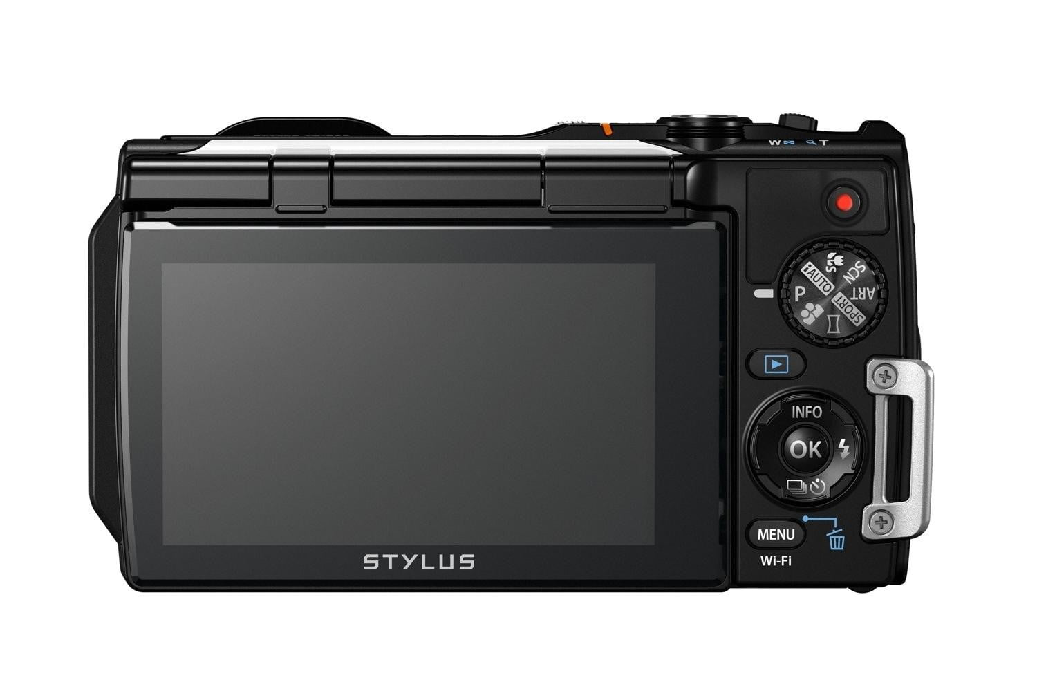 olympus new rugged tg 860 swims deeper now wi fi wht back