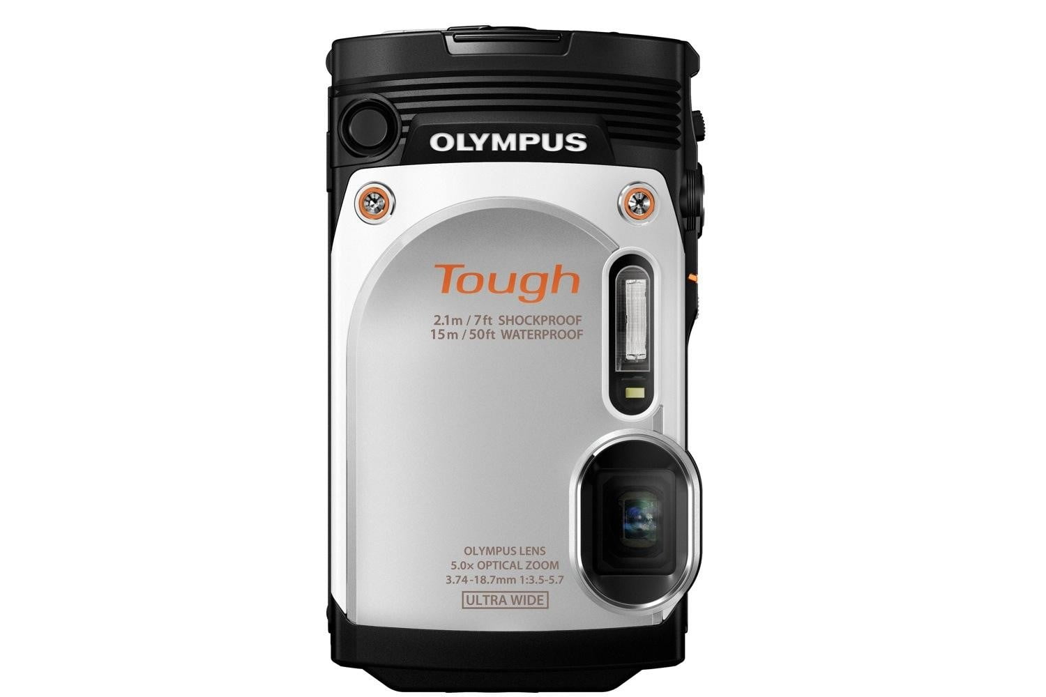 olympus new rugged tg 860 swims deeper now wi fi wht front stand