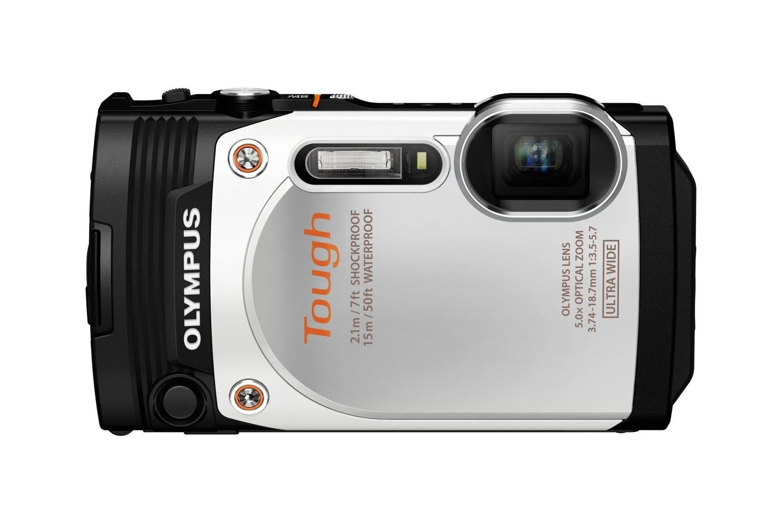 olympus new rugged tg 860 swims deeper now wi fi wht front