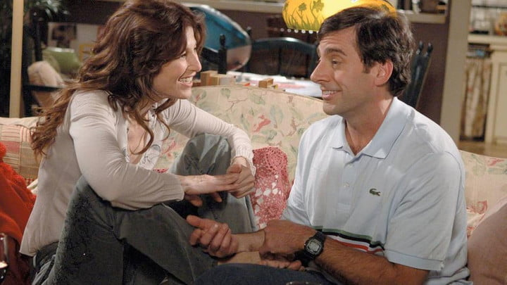 Catherine Keener and Steve Carell in The 40-Year Old Virgin.