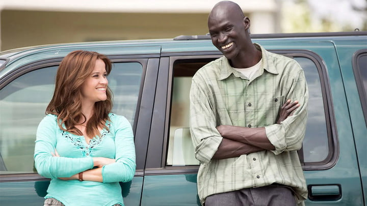 Reese Witherspoon and Ger Duany in The Good Lie.