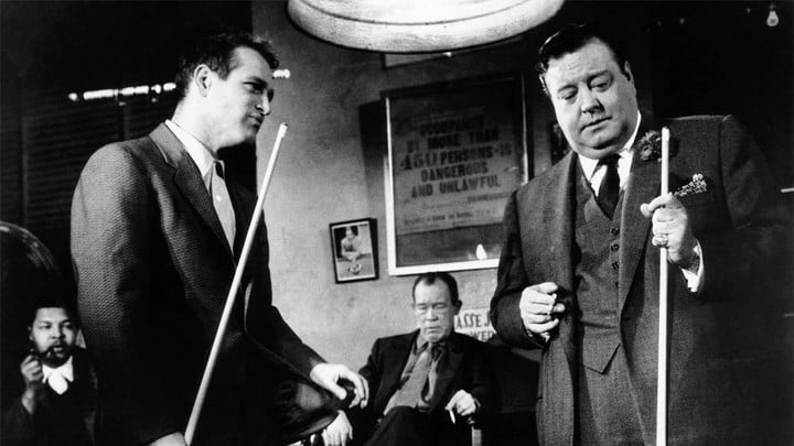 Paul Newman and Jackie Gleason in The Hustler.