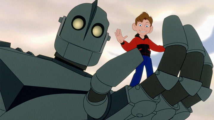 Hogarth and the Giant in Iron Giant.