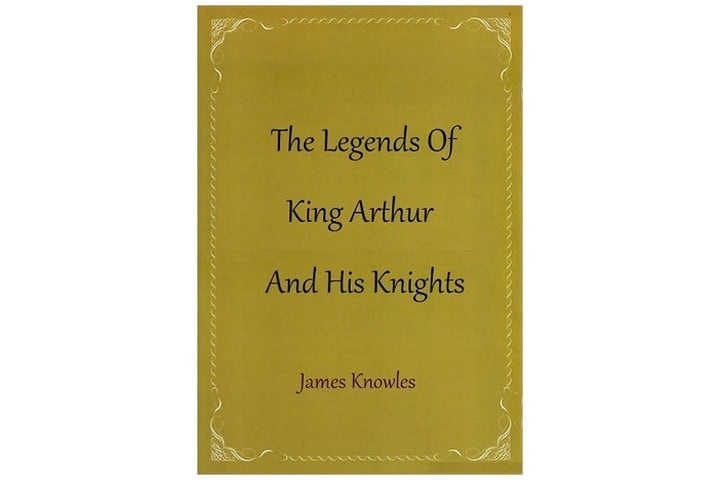 The cover of the book is a deep ochre color, with the title and author name written in an antique-style font