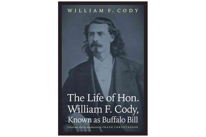 Photo shows the book cover with a photograph of Buffalo Bill. The author's name is at the top of the cover, with tht title at the bottom in a large, white font